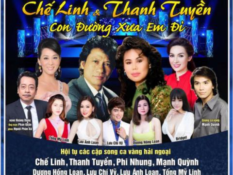 Bán vé Liveshow đêm nhạc Chế Linh – Thanh Tuyền 2/11/2017