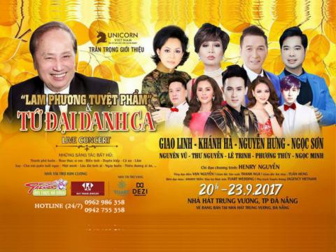 Bán vé Liveshow đêm nhạc Lam Phương Tuyệt Phẩm – Đà Nẵng 23/09/2017