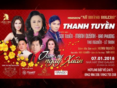 Bán vé Liveshow Thanh Tuyền tại Hà Nội – Liveshow Tâm sự ngày xuân 07/01/2018