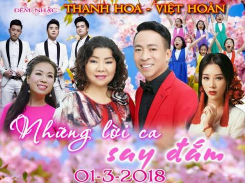 Bán vé Liveshow đêm nhạc Thanh Hoa, Việt Hoàn – Những lời ca say đắm