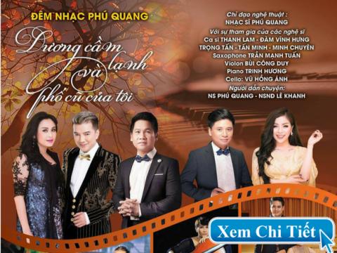 Bán vé Liveshow Đêm nhạc Phú Quang – Dương cầm lạnh và Phố cũ của tôi