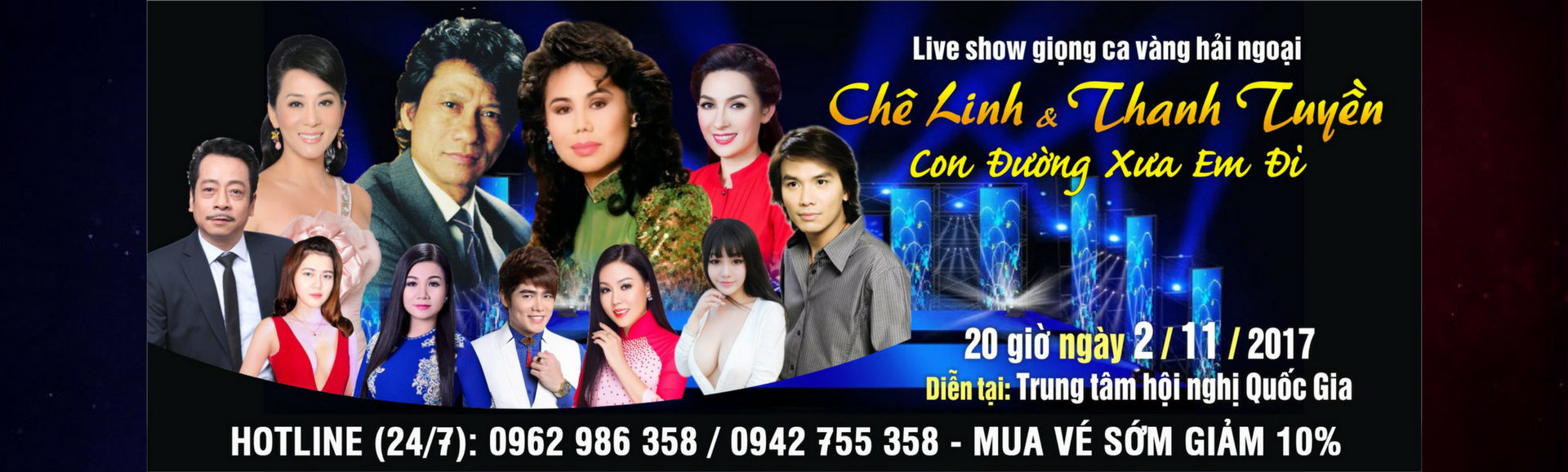 Liveshow Chế Linh – Thanh Tuyền lần đầu song ca tại Hà Nội