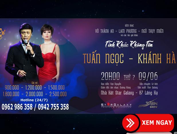 Bán vé Liveshow Tuấn Ngọc, Khánh Hà – Liveshow đêm nhạc Tình Khúc Không Tên