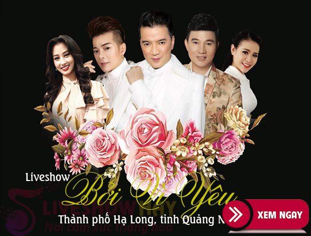 Bán vé Liveshow Bởi Vì Yêu tỉnh Quảng Ninh – Liveshow Đàm Vĩnh Hưng
