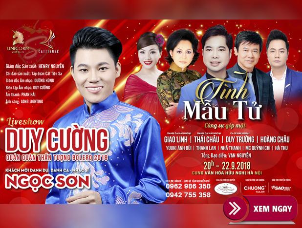 Bán vé Liveshow đêm nhạc Duy Cường – Liveshow đêm nhạc Tình Mẫu Tử
