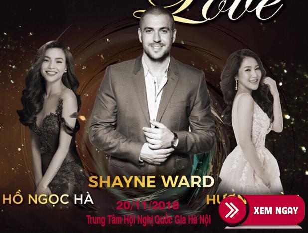 Bán vé Liveshow Shayne Ward – Live For Love