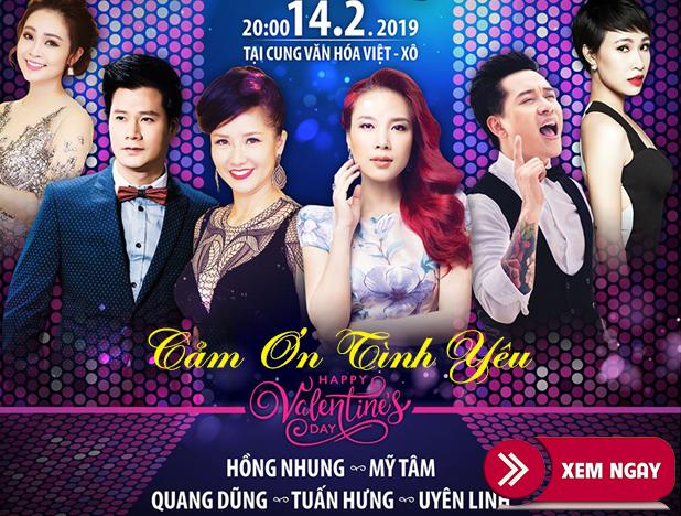 Bán vé Liveshow Cảm Ơn Tình Yêu 14/2/2019